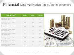 Financial Data Verification Table And Infographics Powerpoint Slides