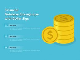 Financial Database Storage Icon With Dollar Sign