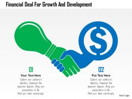 Financial Deal For Growth And Development Flat Powerpoint Design