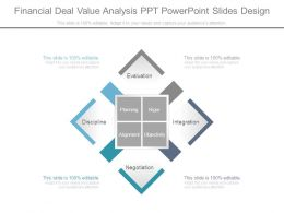 Financial Deal Value Analysis Ppt Powerpoint Slides Design