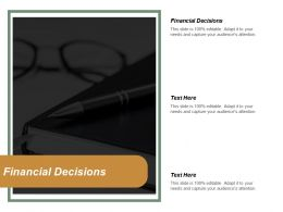 Financial Decisions Ppt Powerpoint Presentation Gallery Layout Cpb