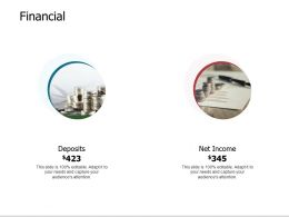 Financial Deposits F821 Ppt Powerpoint Presentation Outline Vector