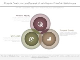 Financial Development And Economic Growth Diagram Powerpoint Slide Images