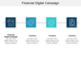 Financial Digital Campaign Ppt Powerpoint Presentation Slides Aids Cpb