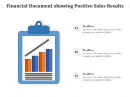 Financial Document Showing Positive Sales Results