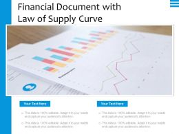 Financial Document With Law Of Supply Curve