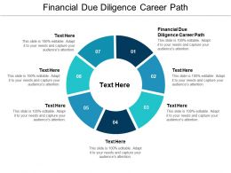 Financial Due Diligence Career Path Ppt Powerpoint Presentation Infographic Template Vector Cpb