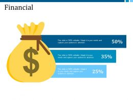 Financial Example Presentation About Yourself Ppt Visual Aids Styles
