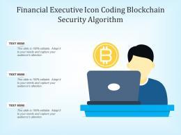 Financial Executive Icon Coding Blockchain Security Algorithm