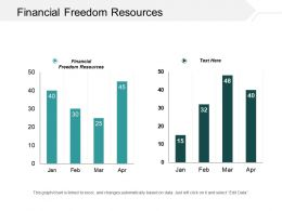 Financial Freedom Resources Ppt Powerpoint Presentation Ideas Slide Portrait Cpb