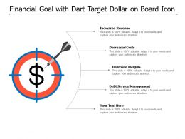 Financial Goal With Dart Target Dollar On Board Icon