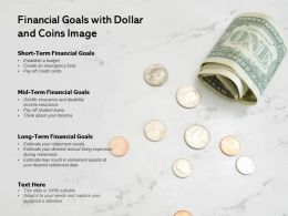 Financial Goals With Dollar And Coins Image