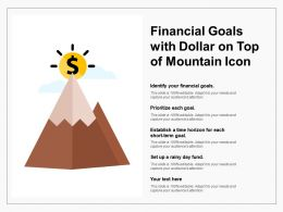 Financial Goals With Dollar On Top Of Mountain Icon