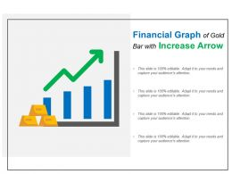 Financial Graph Of Gold Bar With Increase Arrow