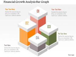 Financial Growth Analysis Bar Graph Flat Powerpoint Design