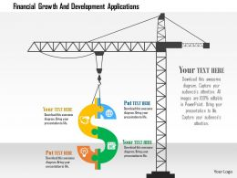 Financial Growth And Development Applications Flat Powerpoint Design