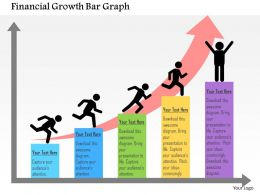 Financial Growth Bar Graph Flat Powerpoint Design