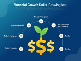Financial Growth Dollar Growing Icon