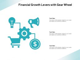 Financial Growth Levers With Gear Wheel