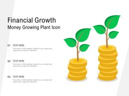 Financial Growth Money Growing Plant Icon
