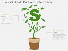 Financial Growth Plant With Dollar Symbol Flat Powerpoint Design