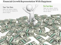 Financial Growth Representation With Happiness Ppt Graphics Icons
