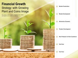Financial Growth Strategy With Growing Plant And Coins Image