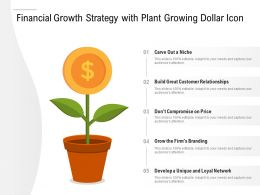 Financial Growth Strategy With Plant Growing Dollar Icon