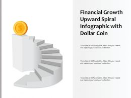 Financial Growth Upward Spiral Infographic With Dollar Coin