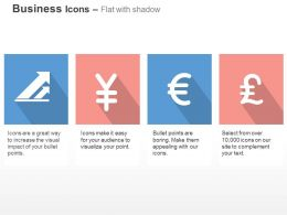 Financial Growth Yen Euro Pound Currency Symbols Ppt Icons Graphics