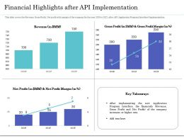 Financial Highlights After API Implementation Ppt Icon Inspiration