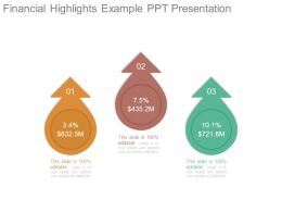 Financial Highlights Example Ppt Presentation