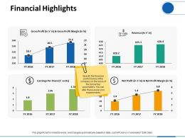 Financial Highlights Finance Ppt Visual Aids Infographic Template
