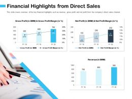 Financial Highlights From Direct Sales M2928 Ppt Powerpoint Presentation File Example