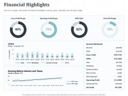 Financial Highlights N317 Ppt Powerpoint Presentation Example