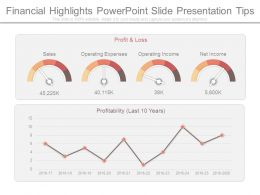 Financial Highlights Powerpoint Slide Presentation Tips