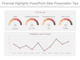 Financial Highlights Powerpoint Slide Presentation Tips