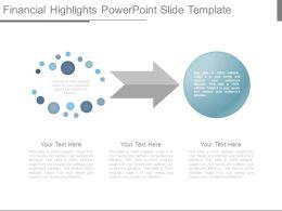 Financial Highlights Powerpoint Slide Template
