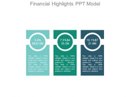 Financial Highlights Ppt Model