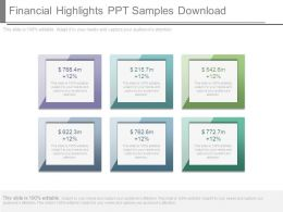 Financial Highlights Ppt Samples Download