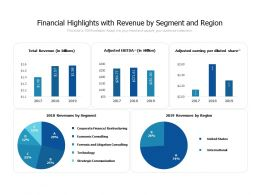 Financial Highlights With Revenue By Segment And Region