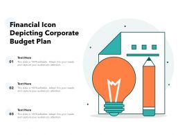 Financial Icon Depicting Corporate Budget Plan