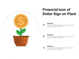 Financial Icon Of Dollar Sign On Plant