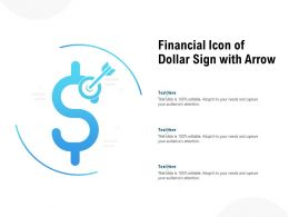 Financial Icon Of Dollar Sign With Arrow
