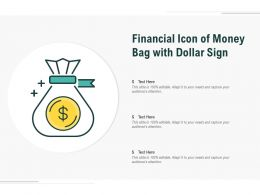 Financial Icon Of Money Bag With Dollar Sign