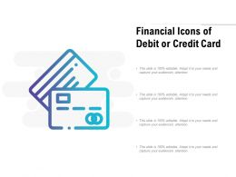 Financial Icons Of Debit Or Credit Card