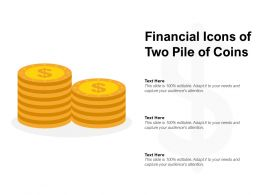 Financial Icons Of Two Pile Of Coins