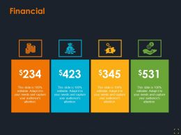 Financial Icons Ppt Summary Background Designs