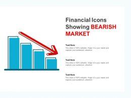 Financial Icons Showing Bearish Market