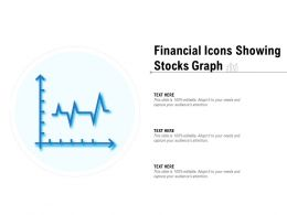 Financial Icons Showing Stocks Graph